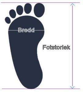 5adb41de4e9 Ska du ha en vintersko eller sko där du vill använda strumpa mäter du foten  med en strumpa på.
